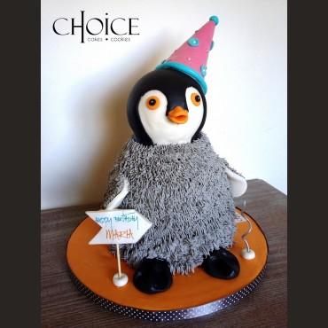 Τούρτα 3D Πιγκουίνος