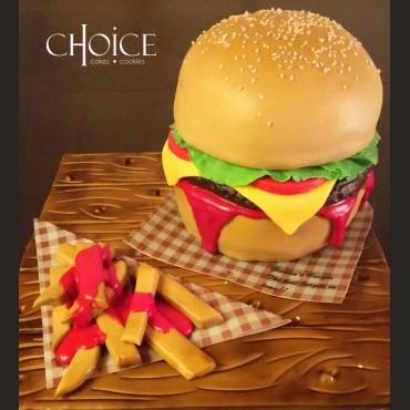 Τούρτα 3D Burger
