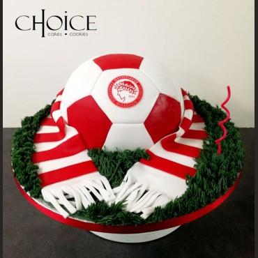 Τούρτα 3D Μπάλα Ποδοσφαίρου Ολυμπιακός