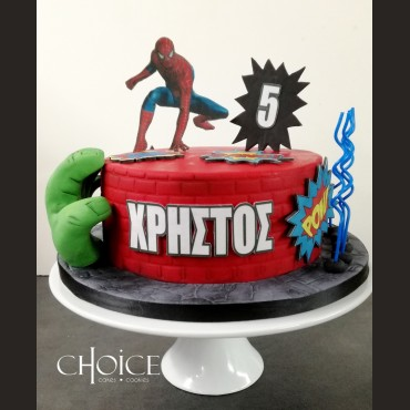 Τούρτα Spiderman & Hulk