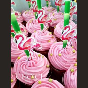 Cupcakes Φλαμίνγκο