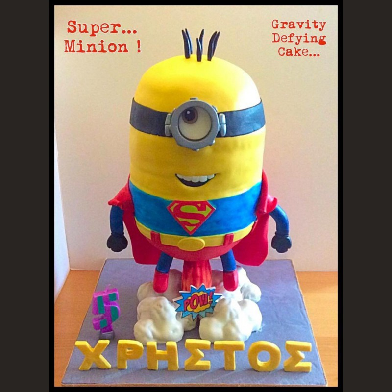 Τούρτα Minions antigravity