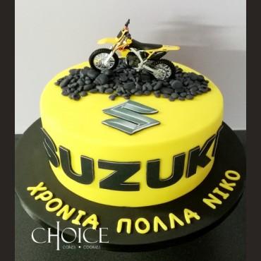 Τούρτα Suzuki Moto Cross
