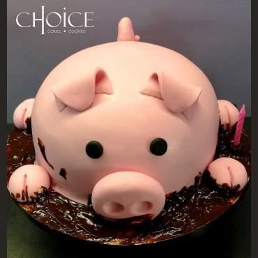 Τούρτα 3D Γουρούνι