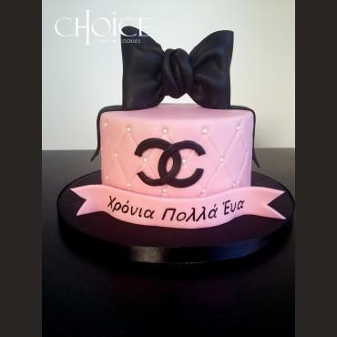 Τούρτα Chanel Φιόγκος