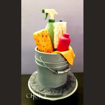 Τούρτα 3D Κουβάς Νοικοκυράς