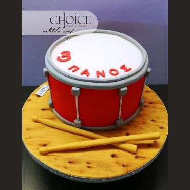 Τούρτα 3D Drums