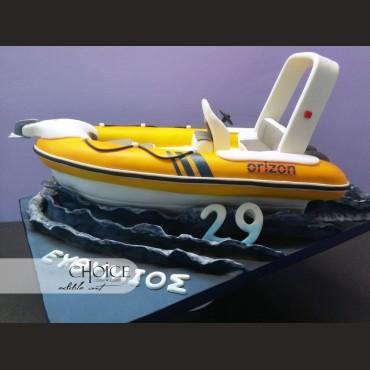 Τούρτα 3D Σκάφος