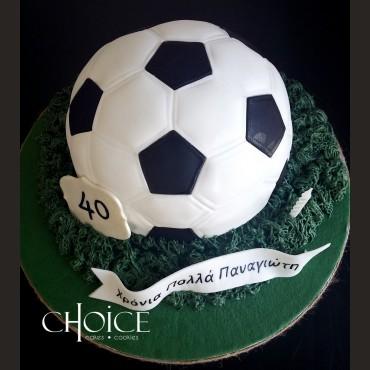 Τούρτα 3D Μπάλα Ποδοσφαίρου