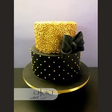 Τούρτα Gold Sequins
