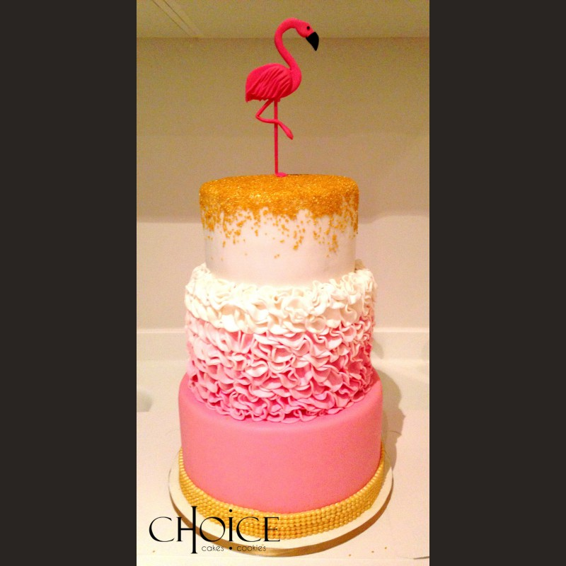 Τούρτα Flamingo