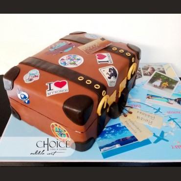 Τούρτα 3D Βαλίτσα Ταξιδιού