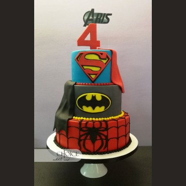 Τούρτα Super-Heroes