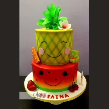 Τούρτα Καλοκαιρινά Φρούτα