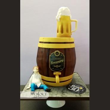 Τούρτα 3D Βαρέλι Μπύρας