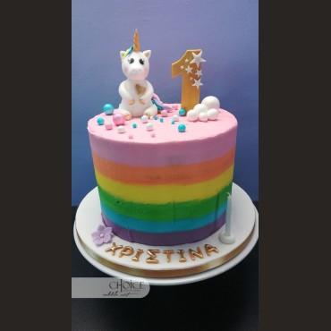 Τούρτα Πρώτα Γενέθλια Μονόκερος
