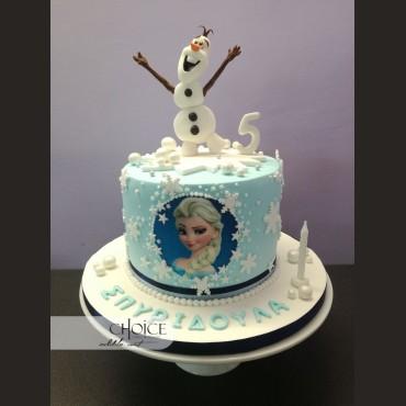 Τούρτα Elsa & Olaf Frozen